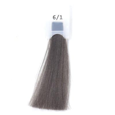 MODA&STYLING Csökkentett ammóniatartalmú krémhajfesték 125 ml 6/1 - sötét hamvas szőke